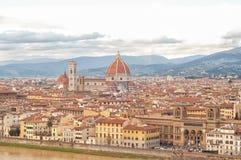 市的鸟瞰图佛罗伦萨 图库摄影