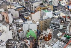 市的鸟瞰图圣保罗,巴西,南美 图库摄影