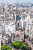市的鸟瞰图圣保罗,巴西,南美 免版税库存照片