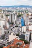 市的鸟瞰图圣保罗,巴西,南美 库存照片