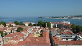 市的鸟瞰图扎达尔,克罗地亚 股票录像