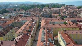 市的鸟瞰图扎达尔,克罗地亚 股票视频