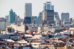 市的鸟瞰图马德里包括商业区 免版税图库摄影