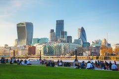 市的财政区伦敦 免版税库存照片