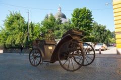 市的建筑学切尔诺夫策, Kobylianskaya街道,切尔诺夫策,乌克兰切尔诺夫策,乌克兰的起点 06 16 库存图片