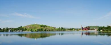 市的主要视域Panarama Nizhny Tagil 库存照片