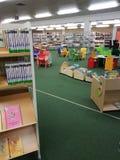 市立图书馆在学校 库存图片