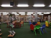 市立图书馆在学校 库存照片