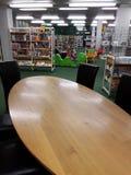 市立图书馆在学校 图库摄影