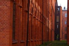 市罗兹,被更新的工厂 库存图片