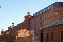 市罗兹,被更新的工厂 库存照片