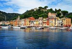 市菲诺港,利古里亚,意大利 免版税库存照片