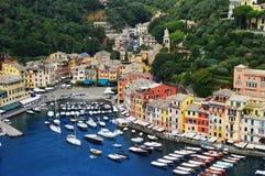 市菲诺港,利古里亚,意大利 免版税库存图片