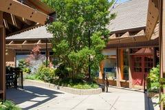 市萨拉托加,加利福尼亚村庄正方形 免版税图库摄影