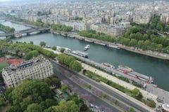 巴黎市视图 库存图片