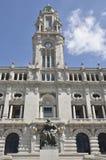 市议会的塔,波尔图 库存图片