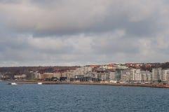 市赫尔辛堡在瑞典 免版税库存照片