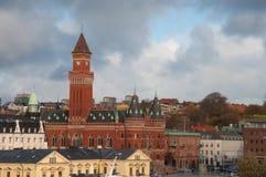 市赫尔辛堡在瑞典 免版税库存图片