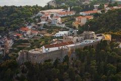 市赫瓦尔岛,赫瓦尔岛海岛,达尔马提亚,克罗地亚 免版税库存图片