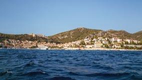 市赫瓦尔岛,达尔马提亚,克罗地亚 库存照片