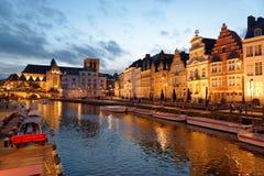 市跟特在比利时 免版税库存图片