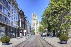 市跟特 都市的横向 免版税库存图片