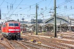 市郊火车在德国 免版税图库摄影