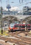 市郊火车在德国 库存图片