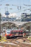 市郊火车在德国 免版税库存图片