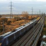 市郊火车 免版税图库摄影