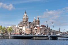 市阿姆斯特丹,荷兰 库存照片