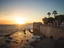 市阿尔盖罗,撒丁岛,意大利 图库摄影