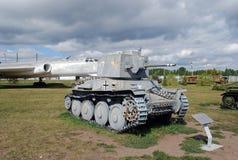 市陶里亚蒂 技术博物馆在露天K下 g Sakharova 博物馆PZKpfW 38的展览 免版税库存照片