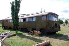 市陶里亚蒂 K技术博物馆  g 萨哈罗夫在市陶里亚蒂 博物馆的展览职员公共汽车 库存照片