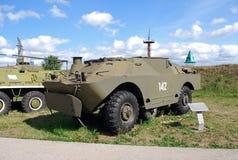 市陶里亚蒂 K技术博物馆  g sakharov 博物馆的展览作战车辆9P122在BRDM-2的PRK 9K11 免版税库存照片