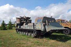 市陶里亚蒂 K技术博物馆  g sakharov 博物馆高速沟槽BTM-4汽车的展览 免版税库存图片