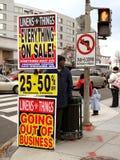 市面萧条 免版税库存图片