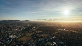 市鸟瞰图开普敦在一个晴天 免版税库存照片