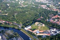 市维尔纽斯立陶宛,鸟瞰图 免版税库存照片