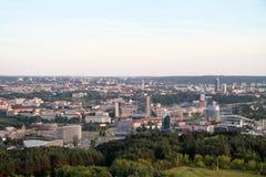 市维尔纽斯立陶宛,鸟瞰图 免版税库存图片