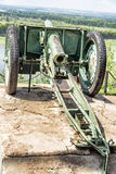 市Birsk 停放修平刀 在垫座的团枪 免版税库存图片