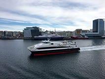市Bodø,诺尔兰,挪威 免版税库存图片