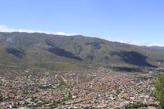 市Cochamba,玻利维亚 库存图片