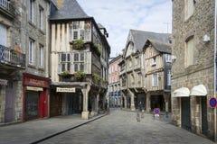 市Dinan,布里坦尼,法国 免版税图库摄影