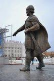 市Dmitrov 对Yury Dolgorukiy的纪念碑 免版税库存图片