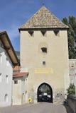 市Glorenza (格洛伦扎),意大利 免版税库存照片