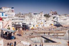 市Pushkar,拉贾斯坦,印度的视图 免版税库存照片
