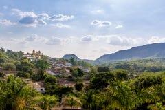 市Tiradentes -米纳斯吉拉斯州,巴西 库存照片