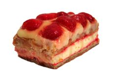 布丁草莓夏天 图库摄影