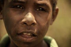 巴布亚新几内亚的孩子 免版税库存照片